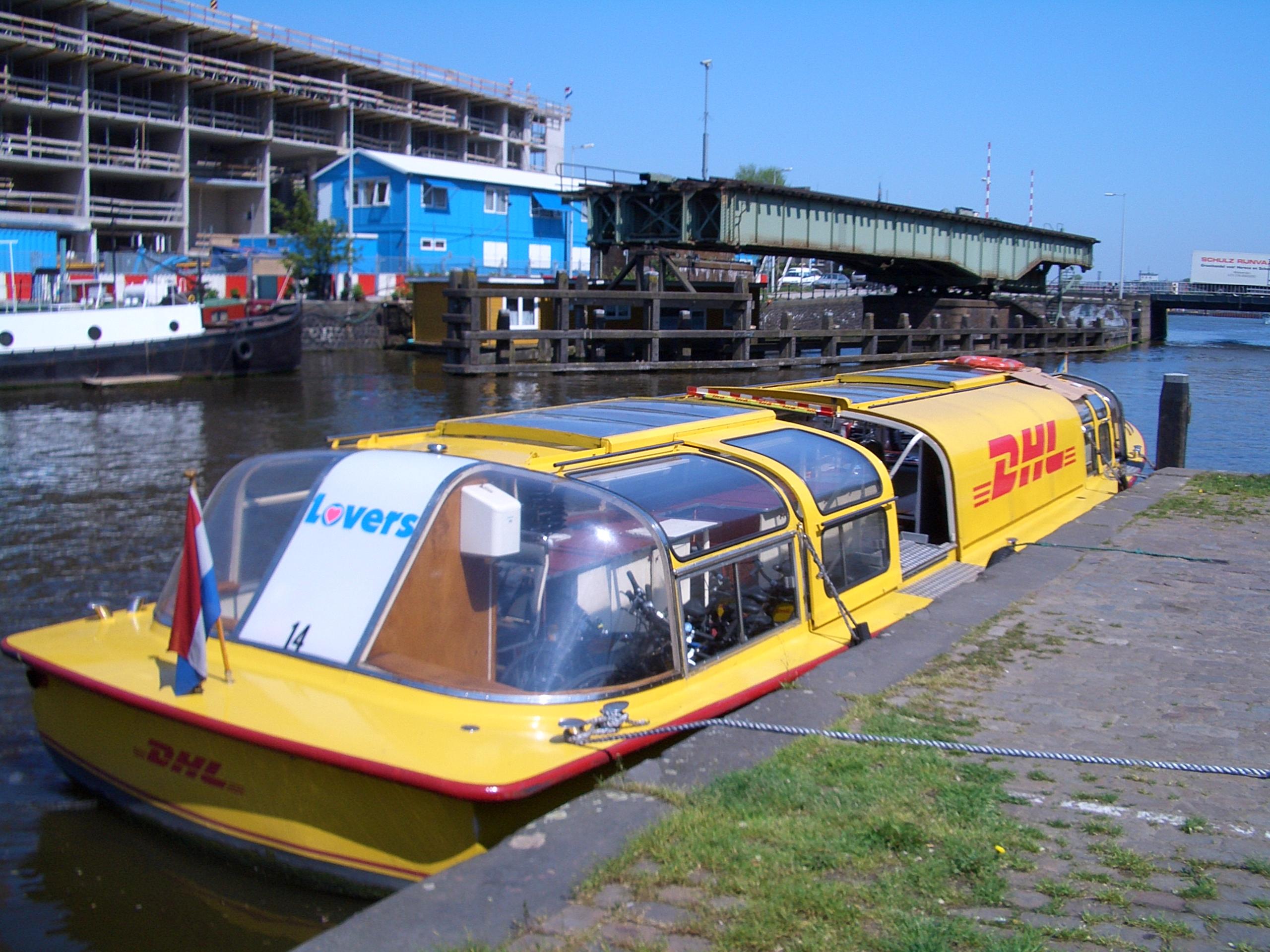 Parcel delivery barge